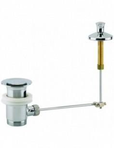 Bonde pour lavabo automatique en laiton chromé avec une tirette verticale