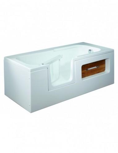 Baignoire avec porte à ouverture mécanique sécurisée incorporée 1700x800