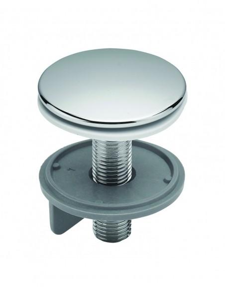 Cache trou pour lavabo en laiton chromé de diamètre 43 mm