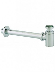 Chrome plated brass trap for basin or bidet