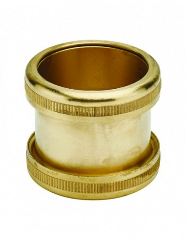 Sink connecting sleeve, inlet and outlet D. 40 mm, copper-plated brass