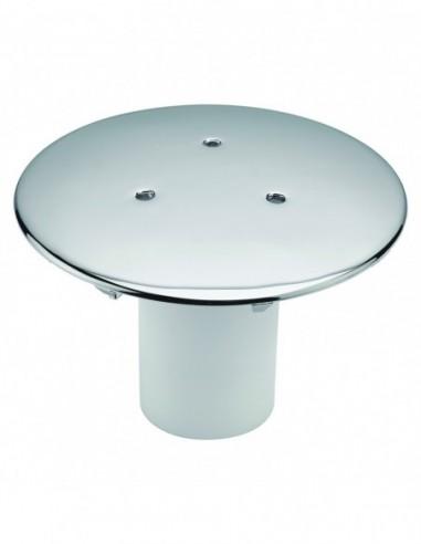 Capot en métal chromé de Diam 120 mm pour bonde de receveur douche