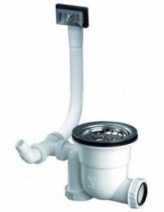 Equipement gain d'espace avec cuve de Diam 90 mm et panier en inox diam 83 mm pour évier