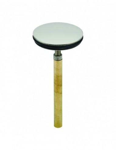 Washbasin flap, with large adjusting spindle 62 mm, adjustable 60/75 mm, stainless steel