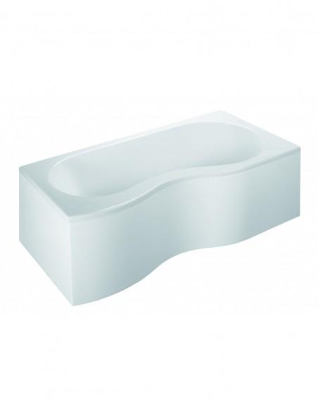 Baignoire EDEOL avec gain d'espace à version droite avec une logueur de 180cm et une largeur de 90 cm