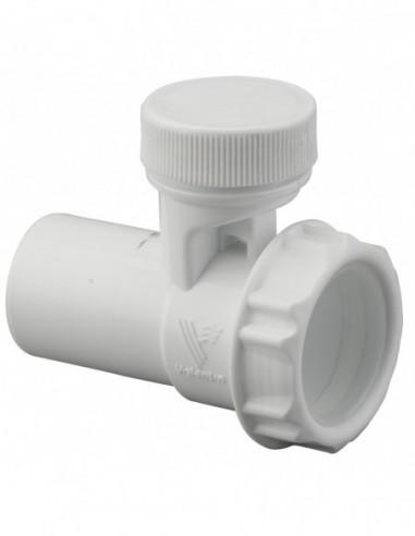Anti-vacuum and anti-noise trap valve, D. 32 mm, white plastic