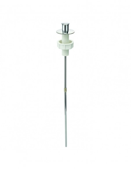Vertical pull rod, length 330 mm, for pop up wastes, stainless steel