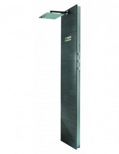 Bati douche à carreler avec robinetterie thermostatique et pomme de Diam 300x300 mm