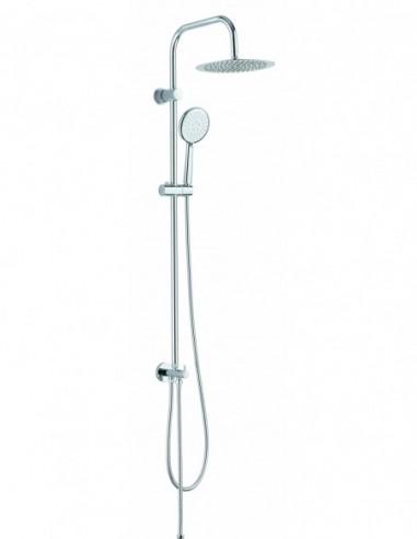 Combiné de douche Classic2  en chrome avec douchette à 3 jets et à raccorder sur robinetterie existante