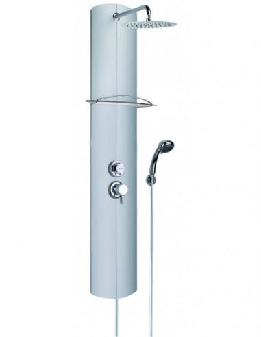 Colonne de douche de marque TOTMY équipée d'une douchette 3 jets et d'une robinetterie thermostatique