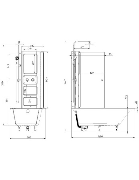 plan 66064300100 baignoire porte twineo prime avec  compatible pmr