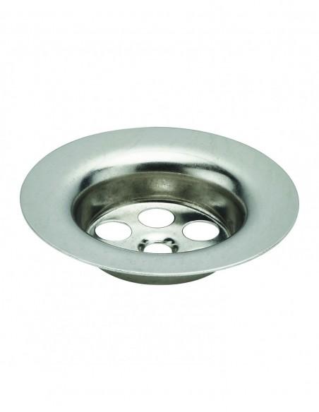 Flange for washbasin waste, D. 63 mm, stainless steel for ref 1153/1155/6042