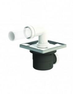 Bonde de douche évolutive PMR avec une sortie horizontale et un encastrement 105 mm