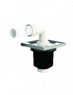 Bondede douche évolutive PMR avec une sortie verticale et un encastrement de 128 mm