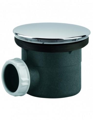 Bonde avec capot en ABS chromé avec sortie horizontale pour receveur de douche receveur douche