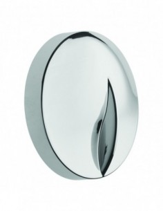 Handle knob for bathtrap with axle, chrome-plated ABS