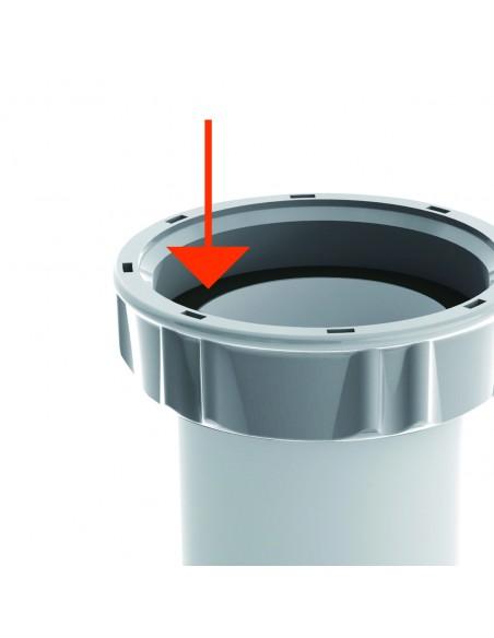 Raccord gain de place pour lavabo Connectic