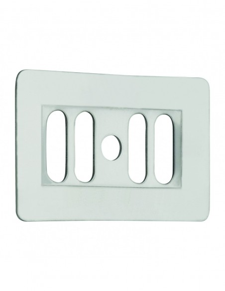 Rectangular overflow grid for stoneware sink, 38 x 62 mm, stainless steel