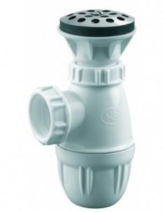 Combiné d'urinoir avec grille en inox pour écoulement libre