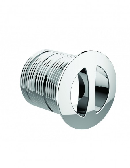 D30 mm chrome plated ABS overflow flange, cuttable, for ref 598300/598500