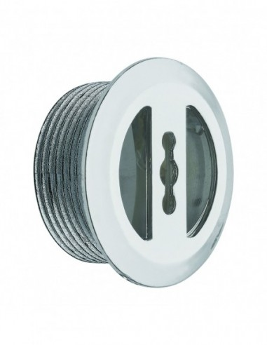 D30 x 14 mm overflow flange, cuttable, tightening 0/6 mm, for ref 5920, chrome plated ABS