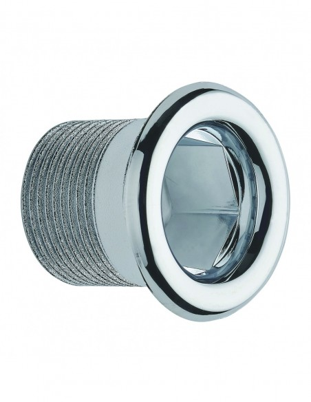 Overflow trim D. 24 mm for synthetic material basin, 12/19 mm tightening, L. 26 mm cuttable, chrome-plated for ref. 5960