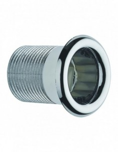 Overflow trim D. 24 mm for synthetic concrete washbasin, tightening 18/25 mm, chrome-plated,  for ref 5965