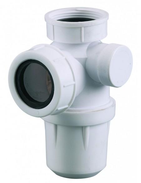 Siphon pour évier en plastique non réglable doté d'une sortie pour machine