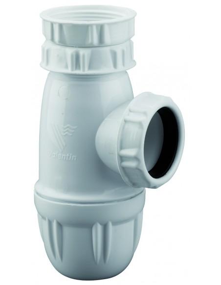 Siphon d'évier en plastique de marque NF avec hauteur réglable à 62/97mm