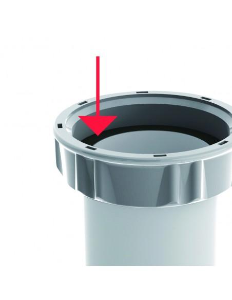 Siphon d'évier très facile à installer bi matière certifié NF