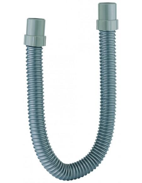 Raccord flexible armé avec 2 embouts en PVC gris à coller