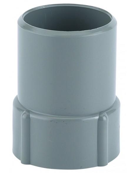 Embout en PVC à coller avec côté vissable sur fitoflex pour raccord