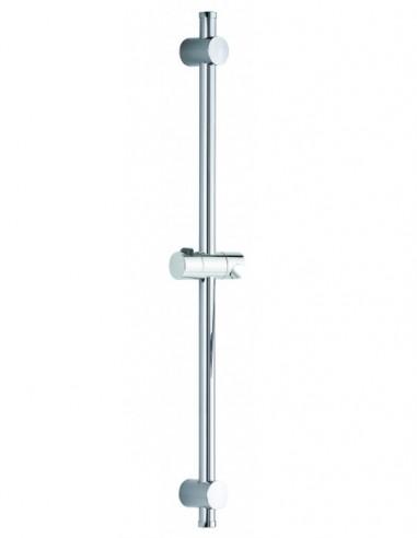 Barre de douche moderne de 500mm avec cale de rattrapage d'aplomb et pied réglable compris