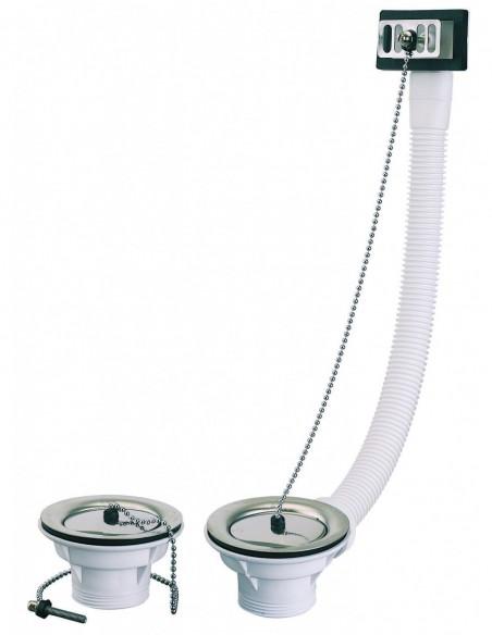 Bonde d'évier 2 cuves de 60 mm Diam.