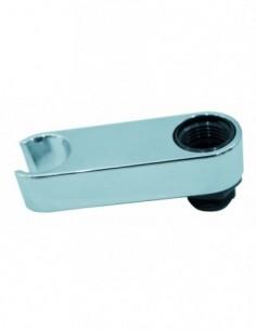 Support de douchette dessus  dessous en ABS  chromé à fixer sur robinetterie
