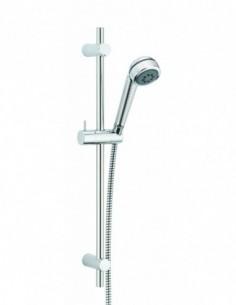Ensemble de douche en ABS Cobra 2 avec douchette 2 jets, barre en inox et flexible de douche PVC