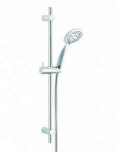 Ensemble de douche en ABS de marque Slate avec douchette 3 jets en laiton chromée