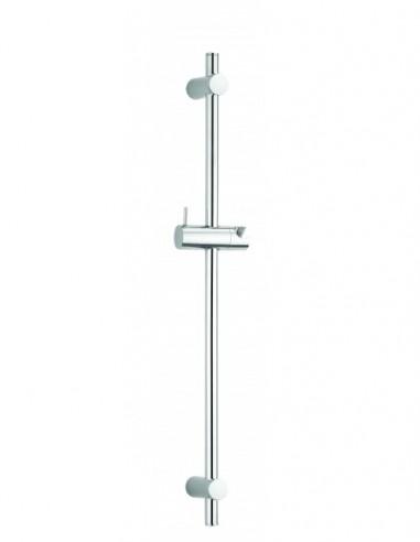 Barre de douche en métal avec une hauteur de 600mm une cale et des pieds réglables