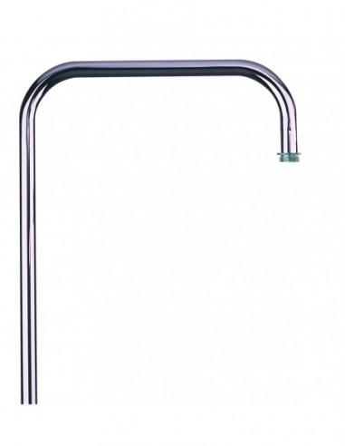 Crosse tube en laiton chromé avec hauteur 1100 mm pour colonne de douche