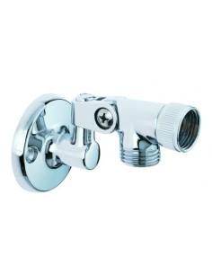 Support mural de douche en métal ou en ABS chromé et orientable à 180 dégré