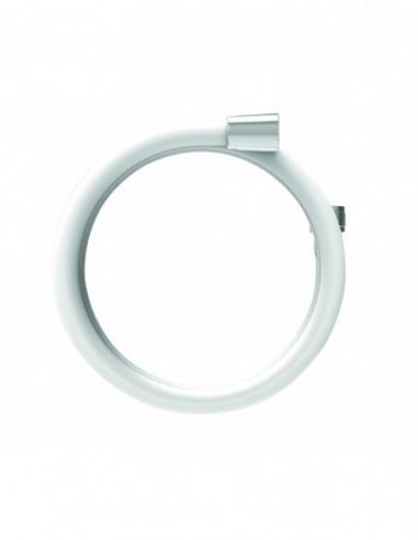 Flexible de douche en PVC couleur blanche avec 1