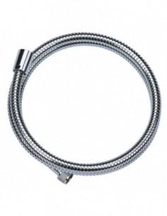 Flexible de douche DA en métal chromé avec 1