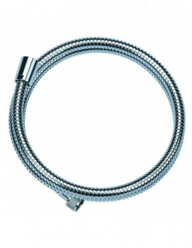 Flexible de douche DA en métal chromé avec 2 m de long et une résistance de 25 kg