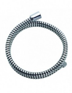 Flexible de douche en PVC chromé avec une longueur de 1