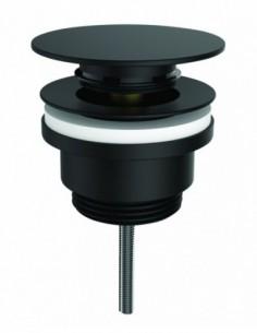 Bonde universelle noire en laiton pour lavabo digiclic
