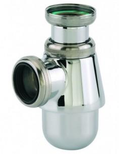 Siphon pour lavabo en laiton chromé réglable avec une sortie de Diam.32