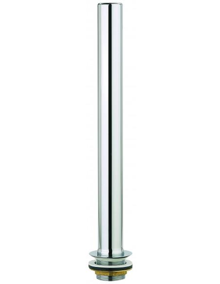 Bonde d'évier surverse en laiton chromé évier avec Diam.50 mm et système de garde d'eau 400 mm