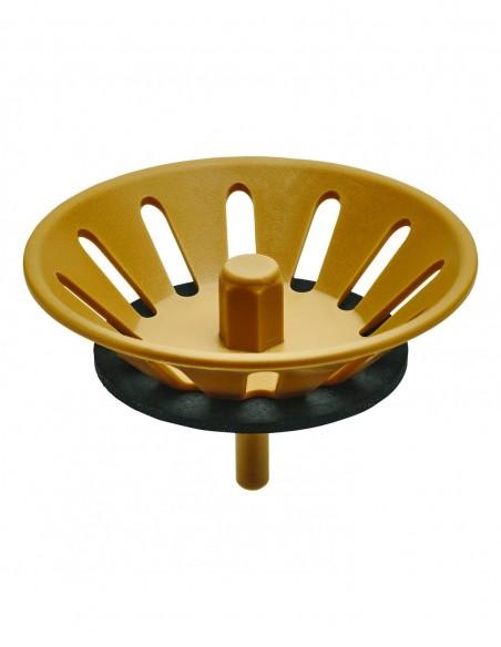 Light brown strainer d76 mm for d90 sink waste for ref. 3901/3911