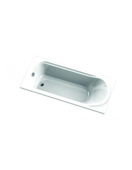 Compact straight Bahia bathtub, 5 adjustable feet included, 170 x 75 cm