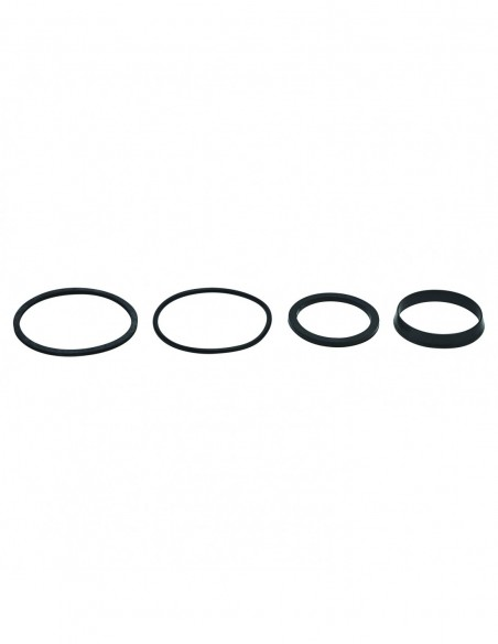 Kit of 4 seals for sink trap, with base gasket, flat gasket, conical gasket and O-ring, elastomer